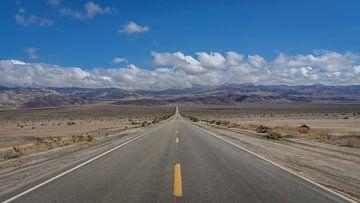 Highway CA-190 door Death Valley van Toon van den Einde