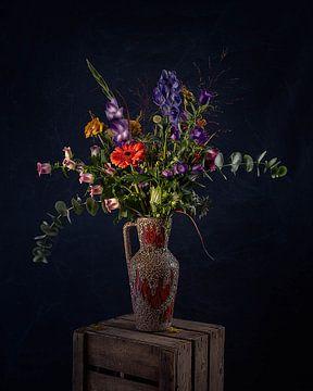 Bloemen - stilleven in een vaas van MICHEL WETTSTEIN