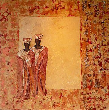 Abstracte figuren van Lyda Geeratz