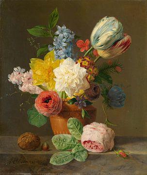 Stilleben mit Blumen und Nüssen, Anthony Oberman