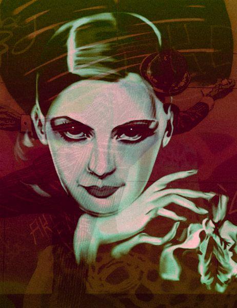 Greta Garbo Plakative Pop Art PUR van Felix von Altersheim
