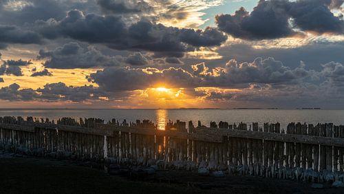 Zonsondergang in Moddergat van