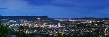 Jena Panorama op het blauwe uur