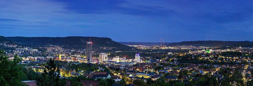 Jena Panorama op het blauwe uur van Frank Herrmann