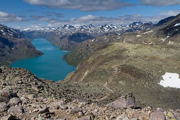 Wandeltocht Besseggen in Jotunheimen Noorwegen. van Hamperium Photography