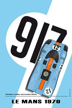 917 Pedro Rodrig Rodriguez, Leo Kinnunen Le Mans 1970