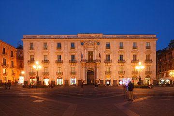 Universität, Universita Degli Studi Di Catania, Piazza Universita bei Abendd�mmerung , Catania, Sizi