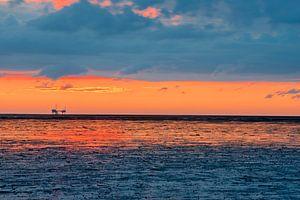 Het Wad bij zonsondergang