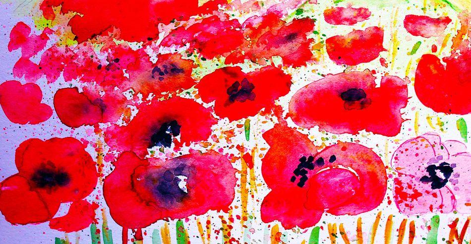poppy field van M.A. Ziehr