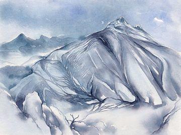 Blaue Berglandschaft, Bernia