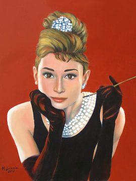Porträt Audrey Hepburn von Marita Zacharias