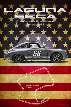 Laguna Seca  Bursche 356 Vintage von Theodor Decker