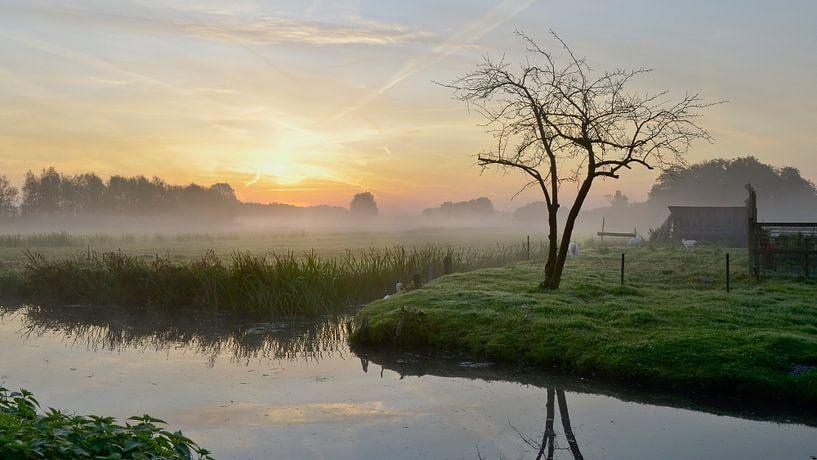 Kortenhoef net voor zonsopkomst sur Pierre Timmermans