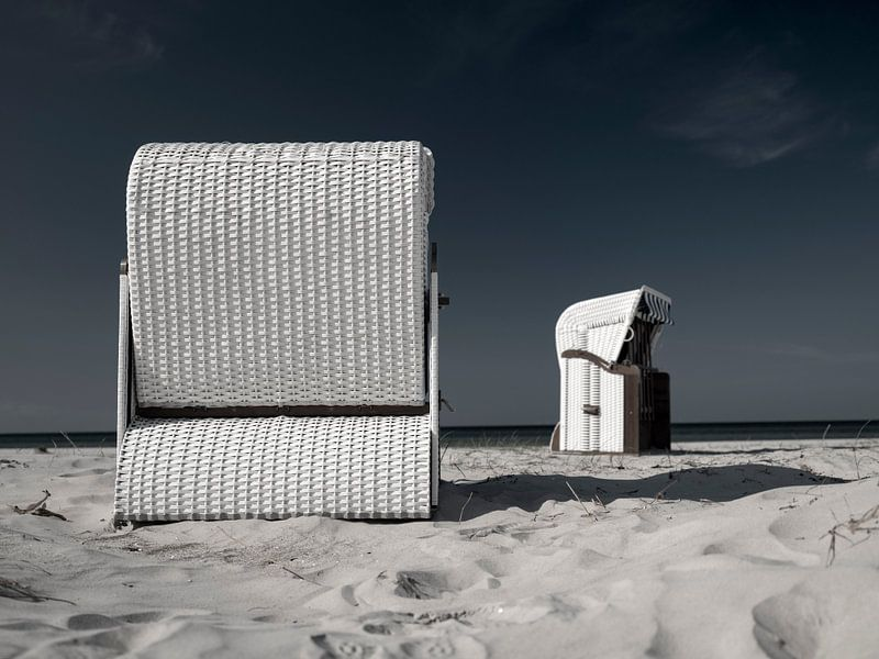 Strandkorb an der Ostsee von Andreas Müller