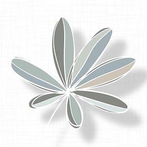 Blätter in Grün, Grau und Sandfarben