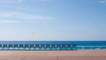 Mooi rustige zeezicht bij French riviera van Natalia Balanina