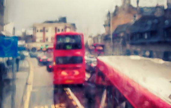 London in rain,