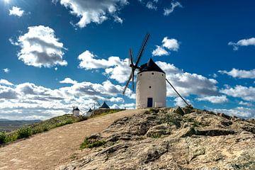 Historische windmolens van Don Quichot, in La Mancha (Spanje).
