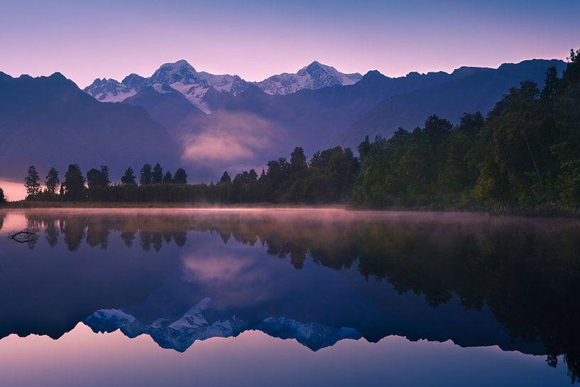 Lake Matheson, Zuidereiland, Nieuw Zeeland van Henk Meijer Photography