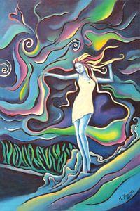 Göttin der Elemente - spirituelle Kunst