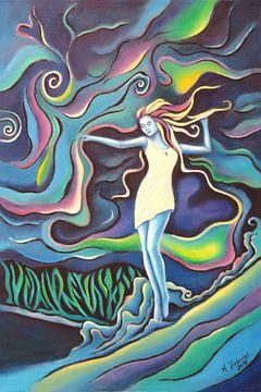 Godin van de Elementen - Spirituele kunst van Marita Zacharias