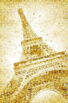Golden wrapped EIFFEL TOWER  sur Melanie Viola