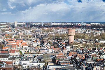 Uitzicht over de Utrechtse binnenstad met de watertoren aan de Lauwerhof von De Utrechtse Internet Courant (DUIC)
