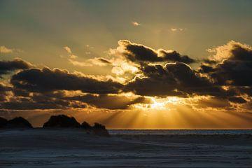 Sunset on the North Sea island Amrum van