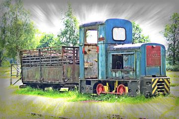 Smalspoor locomotief van Roel de Vries