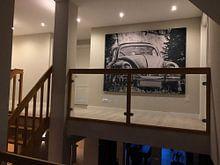 Kundenfoto: Schwarz-weiß Fotografie eines VW Käfers von Edith Albuschat, als akustikbild