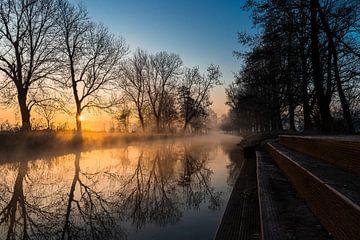 Sonnenaufgang an der Niers von Joel Layaa-Laulhé