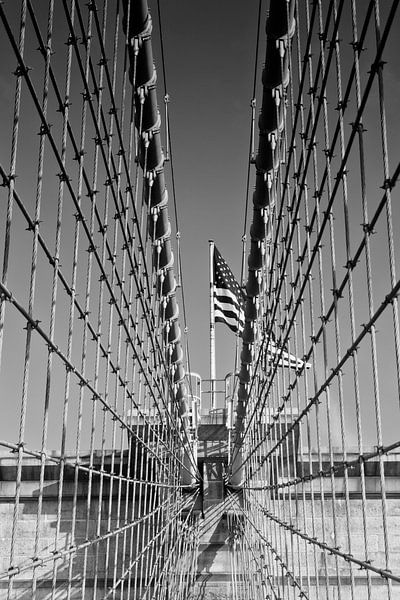 Brooklyn Bridge in Detail van Melanie Viola