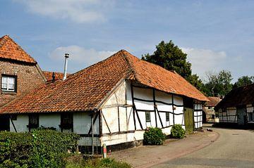 Groepje vakwerkhuizen in Nuth von Leo Langen