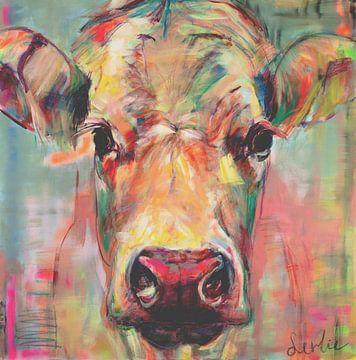 Porträt Kuh 'süße Dame Jane'