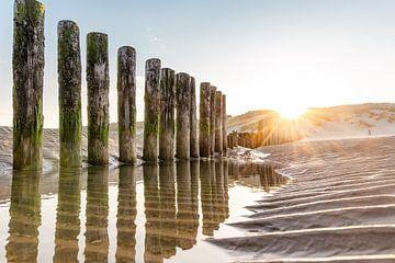Lever de soleil sur la plage de Hollum
