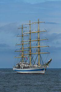 De STS Mir tijdens Sail op Scheveningen 2019 van Fred en Roos van Maurik