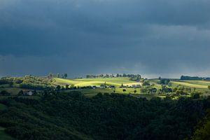Uitzicht op de Cantal van