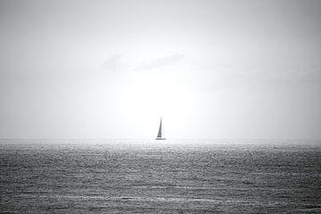 Segelboot auf See von Jeroen Gutte