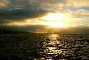 Sunset on Golden Gate, San Francisco, California