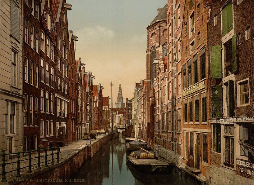 Oudezijds Kolk, Amsterdam van Vintage Afbeeldingen