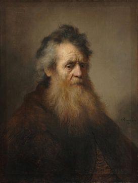 Portrait d'un vieil homme, Rembrandt sur