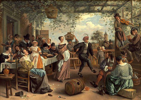 het dansende Paar, Jan Steen