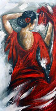 Flamenco dansing van Gena Theheartofart