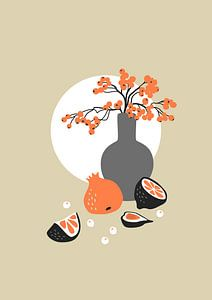 Stilleven 5 Oranje
