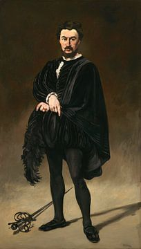 Der tragische Schauspieler (Rouvière als Hamlet), Édouard Manet