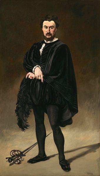 De Tragische Acteur (Rouvière als Hamlet), Édouard Manet van Meesterlijcke Meesters