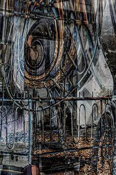 Abstrakte Architektur - Auf dem Balkon