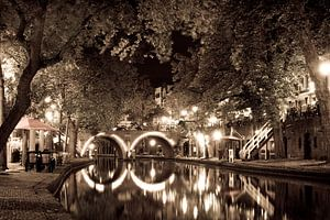 Zomeravond aan de Oudegracht in Utrecht van