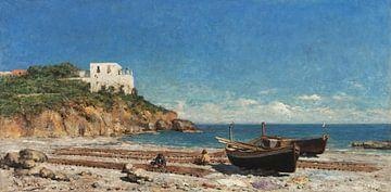 António Carvalho de Silva Porto~Een haven (reparatie van de netten --Italië)