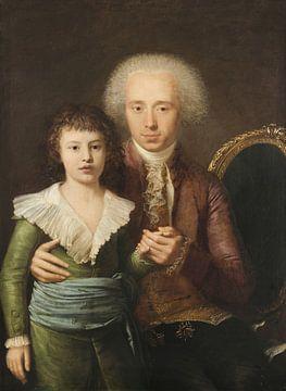 Porträt von Ranuzio Anguissola aus Grazzano mit seinem Sohn Gaspare Landi